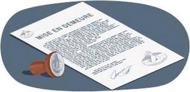LA MISE EN DEMEURE DE PAYER ADRESSEE AU DEBITEUR PAR LETTRE RAR ET NON RECLAMEE